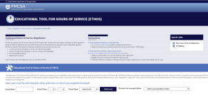 FMCSA educational tool for hours of service
